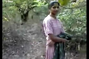 Indian girl bonking just about forest